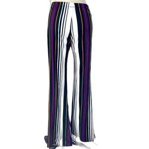 Hello Miss mod stripe stretch knit flare pants